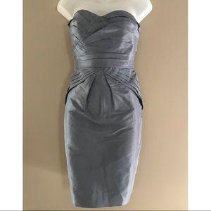 BR Monogram Silk Cocktail Dress